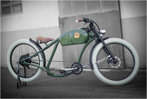 Timeless Motor-Powered Bikes - The Oto Cycle Lets You Ride Around Town in Comfort and Style