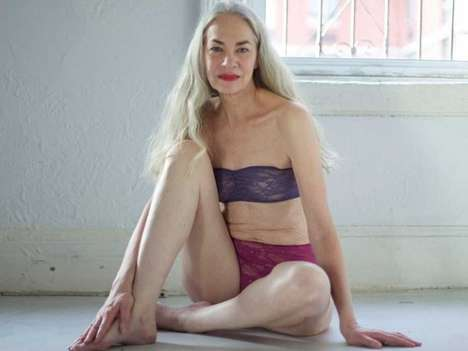 Ageless Underwear Ads - This Elderly American Apparel Model is Stunning at 62