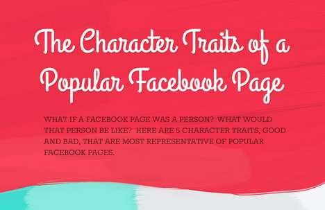 Anthropomorphic Social Media Graphics - This Facebook Graphic Looks at Facebook Pages Like Pets