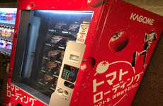 Sports Drink-Replacing Fruit Dispensers - The Kagome Tomato Vending Machine Promotes Natural Energy