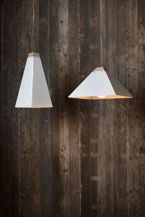 Pyramid Pendant Lights - This Minimalist Pendant Light Collection Draws Inspiration from Giza