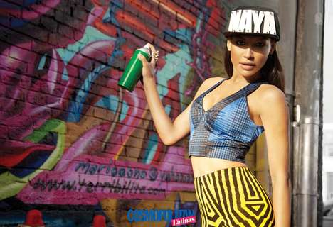 Streetwear Vixen Photoshoots - The Cosmopolitan for Latinas Spring 2014 Issue Stars Naya Rivera