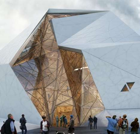 Boulder-Resembles Buildings - Polour Rock Climbing Hall is Inspired by the Sport