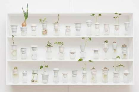 Upcycled Glassware Greenhouses - PLANTATION by Alicja Patanowsk is Doubly Environmentally Conscious