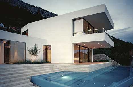 Croatian Paradise Homes - The House U by 3LHD Overlooks the Water and Dubrovnik