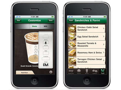 Customizable Coffee Ordering Apps - The Starbucks App Will Let You Pick Your Perfect Coffee Time
