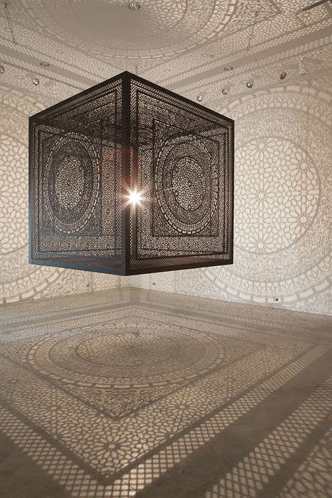 Shadow-Casting Cubes - Artist Anila Quayyum Agha is Behind the Intersection Shadow Art Series
