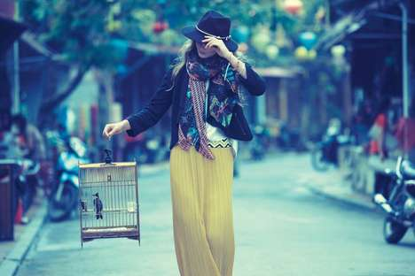 Cultured Bohemian Lookbook Videos - The Anthropologie Collection is Beaming with Color