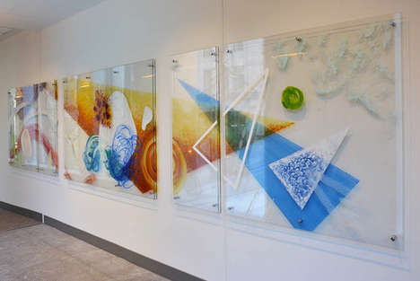Botanical Interactive Art Displays - This Flowery Art Piece Changes and Adapts with Movement
