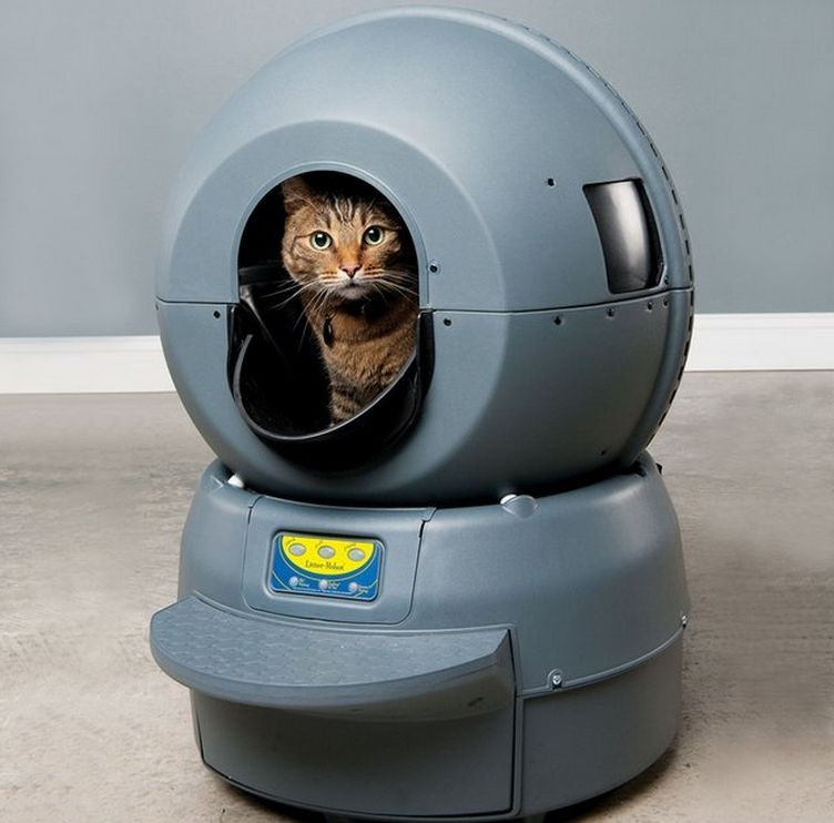 Robotic Self-Cleaning Litter Boxes