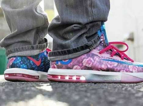 Floral Homage Sneakers Decals - Kevin Durant's VI Aunt Pearl Sneaker Appreciates His Late Aunt