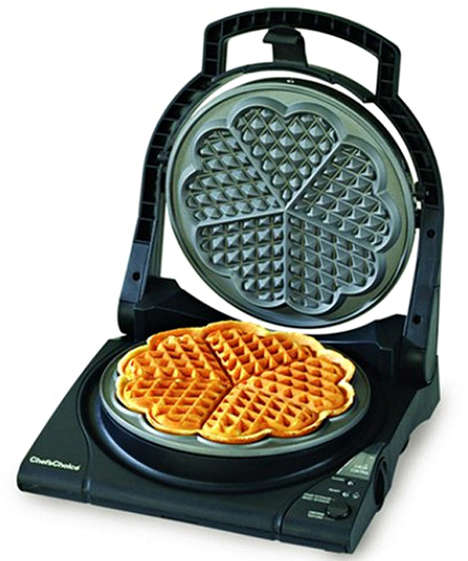 Heart-Shaped Waffle Makers - The Chef