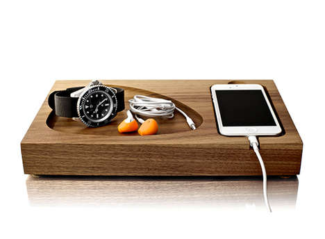 Smartphone Storage Boards - The Tinsel & Timber iPhone Dock Elegantly Arranges Your Charging Device