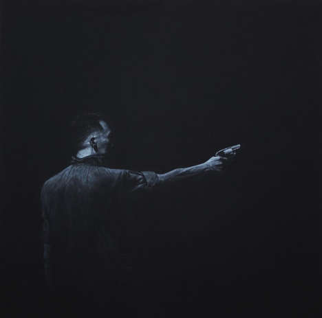 Black Paper Illustrations - Artist Kyung Hwan Kwon Creates Dramatically Dark Scenes