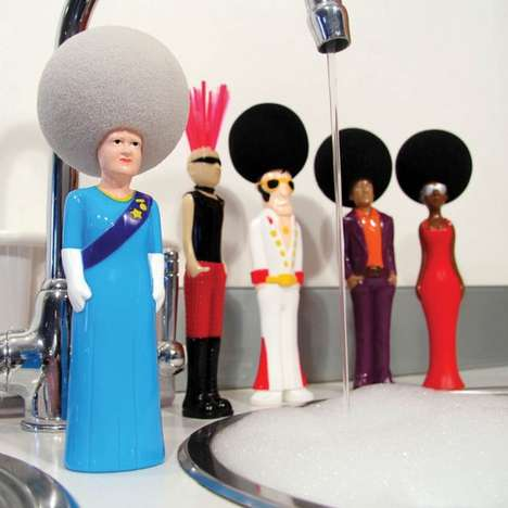 Afro Character Sponges - The Washing-Up Sponge Adds Fun to Your Dish Washing Routine