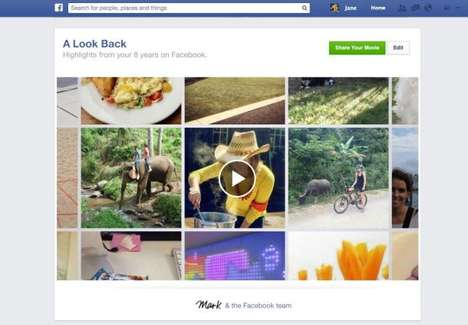 Personalized Social Media Compilations - Facebook Look Back Celebrates the Site