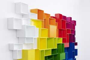 This Vivid Book Shelf is Large in Size and Presence
