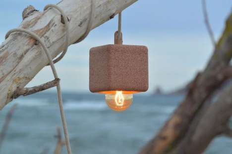 Grainy Cube Lamps - The Sand Light by Alien and Monkey is Made Using Traditional Ceramic Techniques