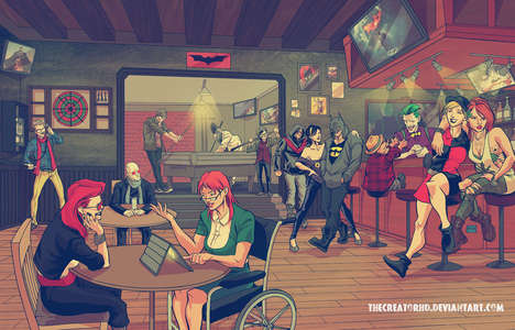 Hipster Superhero Illustrations - Artist Phil Sevy Gives Comic Book Characters a Modern Makeover