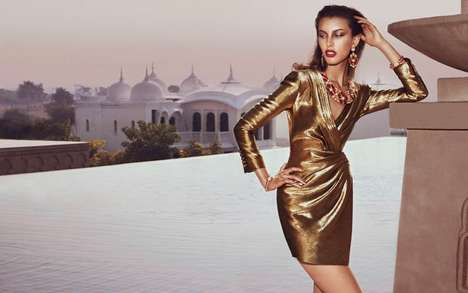 Elegant Metallic Fashion - The Editorial Starring Kate King for How to Spend It is All Aglitter