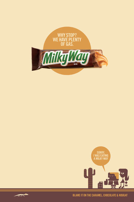 Distracting Chocolate Bar Ads - The Milky Way 2014 Campaign Tells People to Blame It on the Treat