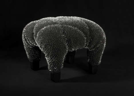 Excruciating Spiked Seating - The Nailed Succession Stool is Deceptively Soft and Painfully Pointy