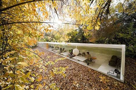 Forest Secluded Office Spaces - This Forest in Madrid Has a Comforting Office Space for One Company
