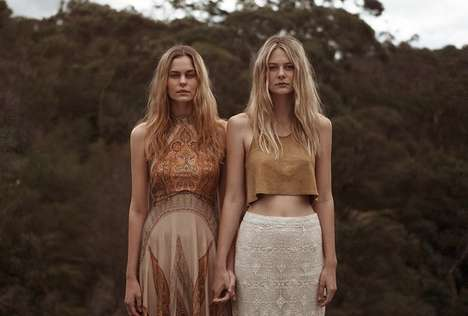 Enchanting Bohemian Lookbooks - This Hippie Fashion Photo Shoot is Whimsical and Dreamy