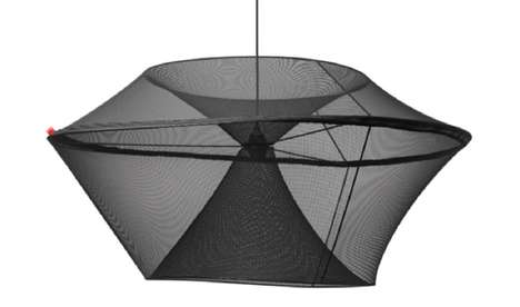 Mod Mesh Illuminators - The Moire Lamps Embody Bold Yet Diaphanous Designs