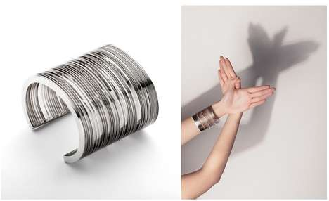 Bar Code Cuff Bracelets - This Cuff Bracelet is Inspired by Industrial Bar Codes