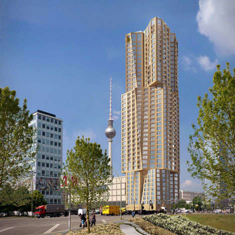 Distorted Cuboid Skyscrapers - Gehry's 150 Meter Skyscraper Will Become Berlin's Tallest