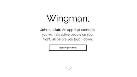 Flirtatious In-Flight Apps - The Wingman App Might Get You Mile-High Certified