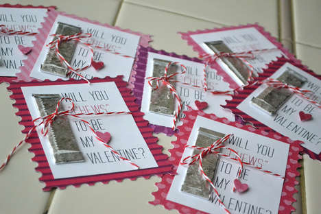 Gum-Filled Valentine Greetings - DIY Gum Valentine's Day Cards Can Be Sweet