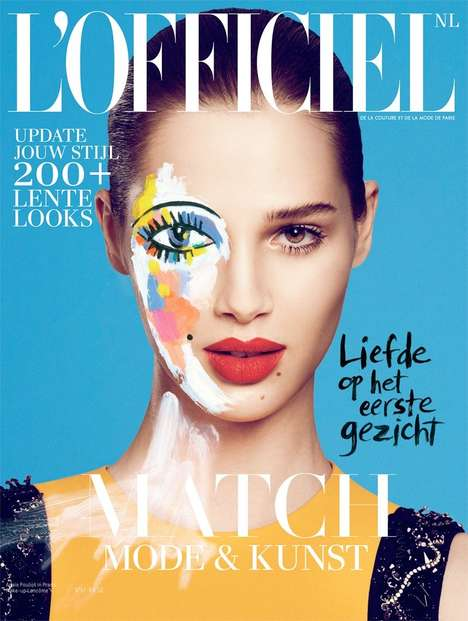 Floral Pop Art Editorials - Anais Pouliot Stuns in the L'Officiel Netherlands February 2014