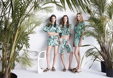 Balmy Sporty-Chic Campaigns - The Zara SS 2014 Campaign Showcases Stylist Athleticism