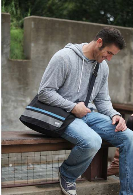 Charitable Commuter Satchels - Oak Lifestyle Messenger Bags Provide to Those in Need
