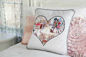 The Heart Applique for Pillows is Romantically Stylish