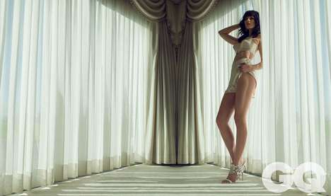 Character-Channeling Editorials - The British GQ Photoshoot Stars Actress Jessica Pare