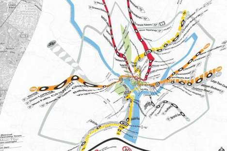 Topographically Accurate Transit Maps - Corrected Subway Maps are Made to Fit an Internet Format