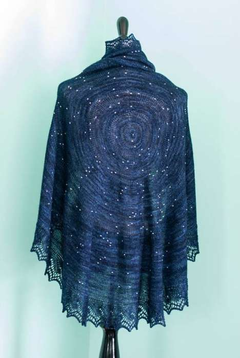 Hand-Woven Interstellar Scarves - This Star Shawl is Literally Out of This World