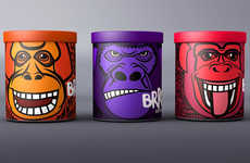 Monkey-Faced Marketing - BRRR Ice Cream Packaging Does Not Express Itself in the Usual Sweet Fashion