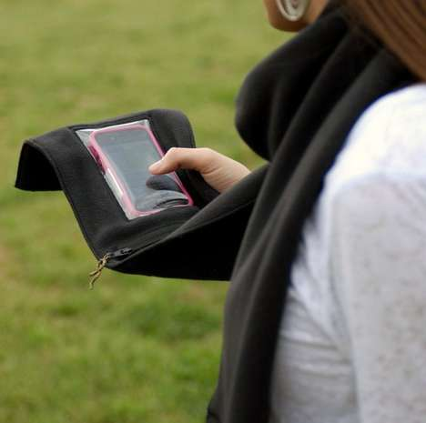 Smartphone-Enabled Scarves - The iPhone Scarf Makes Commuting in the Cold Convenient
