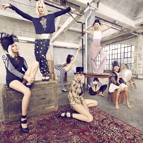 Eccentric Kaleidoscope Lookbooks - The Sass & Bide Spring 2014 Campaign Comes to Life in 3D