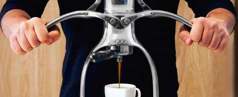 Hand-Power Espresso Machines - The ROK Espresso Machine Lets You Customize Your Coffee