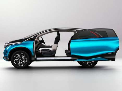 Sleek Indian CUVs - The Honda Vision XS-1 Makes Its Debut at the 2014 New Delhi Auto Expo