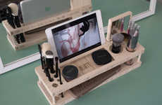 Tech-Integrated Makeup Docks