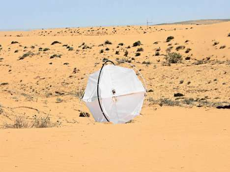 Western-Inspired Desert Devices - The Tumbleweed Robot by Shlomi Mir Analyses Barren Landscapes