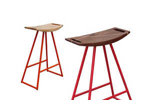 The Roberts Stool Combines Wood and Steel into an Elegant Object