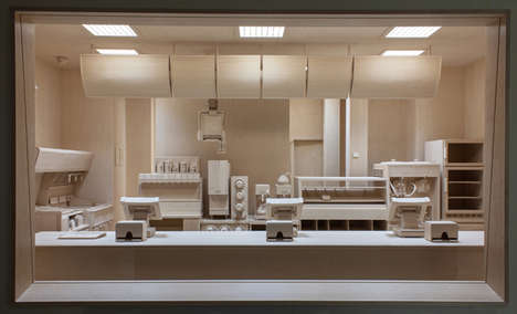 Lifelike Wooden Restaurant Installations - Roxy Paine Created an Entire Fast Food Joint Out of Wood