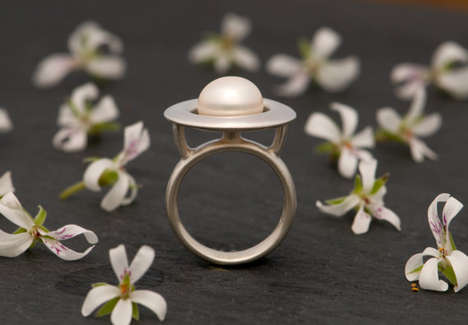 Pearly Planetary Rings - This Unusual Pearl Ring Looks Like the Planet Saturn